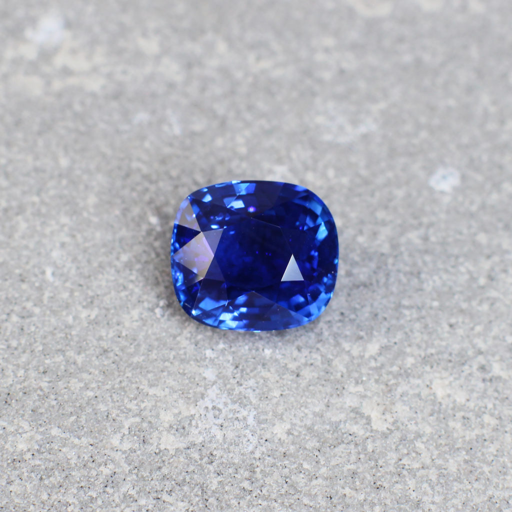 2.08 Blue Cushion Sapphire